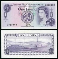 1979 Isle Of Man One Pound Banknote Signed Dawson Queen Elizabeth Pick 34 CUnc.