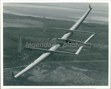 1986 Voyager Aircraft Test Flight Over Mojave Desert Original News Service Photo
