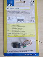 ESU 53611 LokPilot Standard H0 DCC/RailCom Kabel+8pol.Stecker NEU OVP