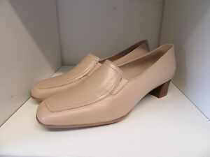 HOTTER TEMPO BEIGE LEATHER SLIP ON SHOES SIZE 8 BRAND NEW