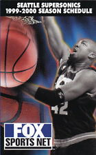 1999-00 SEATTLE SUPERSONICS BASKETBALL POCKET SCHEDULE - FOX SPORTS NET