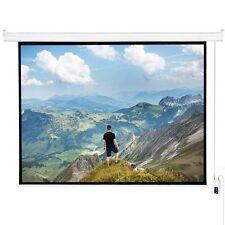 "120"" 4:3 Matte White Projector Screen, Electric Motorized Remote Control Screen"