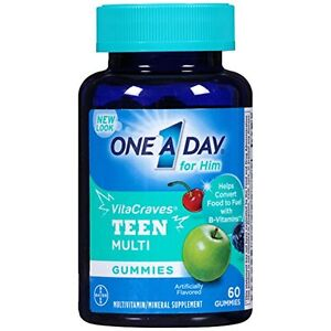 One A Day Vitacraves Teen for Him, 60 Count