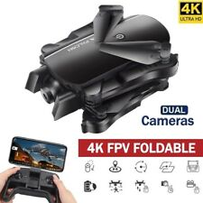 FPV RC Foldable Pocket Drone Toys Quadcopter with 4K HD Dual Camera Follow Me