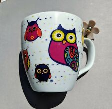 Konitz  Owl Mug In White 14 ounces