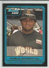 Pablo Sandoval Boston Red Sox 2006 Bowman Draft Futures