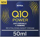 Nivea Q10 Power Anti-Wrinkle Face Night Cream - 50 ml Pack of 2