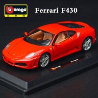 Ferrari F430 Red 1:24 Scale Diecast Alloy Model Sports Car Collection By Bburago