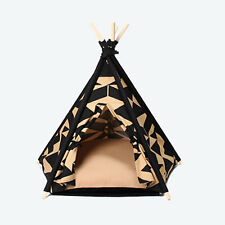 Pet Dog Tent House Washable Puppy Kennel Soft Comfortable Cushion Dog Bed Teepee