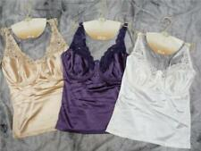 Under Wire Silky, Sexy Camisole with Lace Cups 3 Colours 36 - 40 C,D & DD Cups