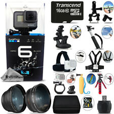GoPro HERO6 Black 4K Ultra HD Camera + Wide Angle & Telephoto Lens -Mega Kit