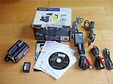 Sony HDR-XR150 120 GB HD Camcorder - Software Box AV AC COMP Cables