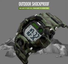 SKMEI Large Display Digital Watch Camouflage Loud Alarm Cam 50m Sports Watch UK