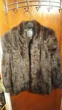 Vintage PD Furs Saga Genuine Mink Fur Coat Size S VG condition no see buttons