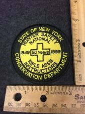 New York Conservation Department Hunter Safety Instructor 50 Years Patch Nra