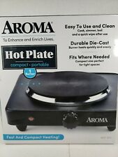 AROMA SINGLE BURNER PORTABLE ELECTRIC RANGE HOT PLATE, BLACK *Sold As Is*