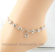 Love Heart Cherry Silver Plated Anklet Chain Crystal Bracelet Bohemian Ankle  UK