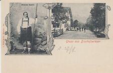 Carte Postale Bayern 8242 Salutation de Bischofswiesen Brûleur Bascht