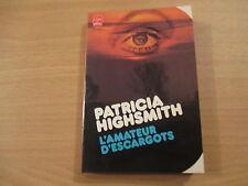 le livre de poche l'amateur d'escargots - patricia highsmith