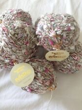 Noro Yarn, Pinks, Tan And White, 7 Skeins