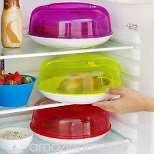 Kitchen Plastic Microwave Food Dish Cover Plate Steam Vent Splatter Lid Tool New