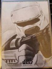 2016 Star Wars Rogue One Series 2 Brett Farr Shoretrooper Artist Sketch 1/1