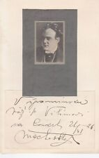OTTO MACHA Opera Tenor signed presentation photo - two autographs, 1926 & 1933