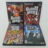 Guitar Hero and Rockband Playstation 2 Lot of 4 (Sony PS2, Aerosmith)