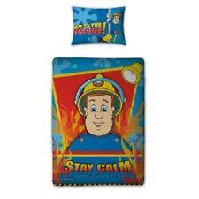 Fireman Sam Hero Junior or Cot Bed Quilt Duvet Cover Set, Kids Room Decor