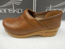 Dansko Womens Embossed Pro Burnished Calf Tan Size Eu 37