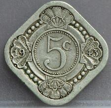 Nederland The Netherlands - 5 cent 1943 - stuiver 1943 Cupro - KM# 40