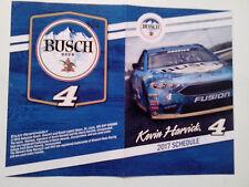 "2017 NASCAR SCHEDULE KEVIN HARVICK  4"" x 6"" SPONSOR BUSCH BEER - NEW"