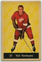1961-62 Parkhurst Hockey  #21 Val Fonteyne G-VG Condition (2020-11)