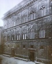 Palazzo Rucellai, Florence, Italy, Vintage Magic Lantern Glass Slide