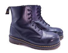 Dr. Martens Doc England Rare 80's Vintage Black Steel Toe Boots UK 7 US 8