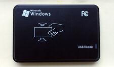 13.56Mhz RFID USB Proximity Sensor Smart Card Reader + 2 pcs 13.56Mhz RFID Card