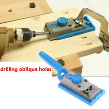 Pocket Hole Jig System Wood Doweling Joinery Drill Guide DIY Kit For Woodworking