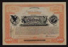 Wabash  Railroad  Company 100 shares circulated