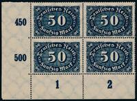 DR 1922, MiNr. 246 c, Viererblock postfrisch, gepr. Dr. Oechsner, Mi. 280,-