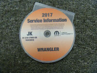 2017 Jeep Wrangler Shop Service Repair Manual CD Sport Sahara Rubicon Unlimited
