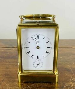 Antique French Carriage Clock Striking & Repeating Alarm 8 Day Jeweled Movement