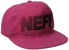 Neff Unisex Cap Neon Krinkle Kappe, Rosa, Einheitsgrösse