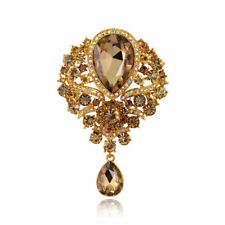 Lady Elegant Crystal Large Fashion Drop Pendant Wedding Grace Rhinestone Brooch