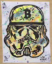 Will $treet original painting 🤖/ COA Star Wars art stormtrooper banksy Graffiti