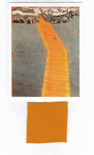 Christo Floating Piers taschen card 17 x 12,7 cm hand signed + fabric 7 x 7 cm