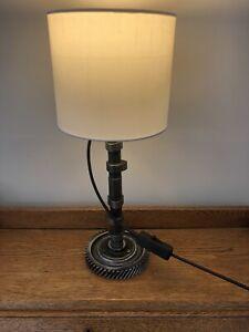 VW Beetle Camper Camshaft Table Lamp Light Up Cycled Steampunk Mancave Vintage