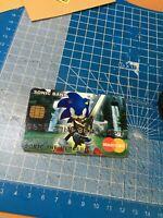 SONIC THE HEDGEHOG  BANK  Novelty Plastic coated Credit Card funcard prank card