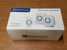 SadoTech Model Cxr Wireless Doorbell with 1 Remote Button and 2 Plugin.