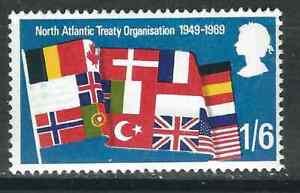 Great Britain (UK) Stamps 587var SG 794var 1/-6d NATO Error MNH VF 1969 GCV £125