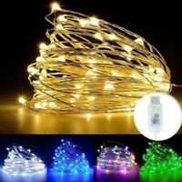 Waterproof  100 LEDs USB Operated Mini Silver Wire String Fairy Lights Lamp 10M
